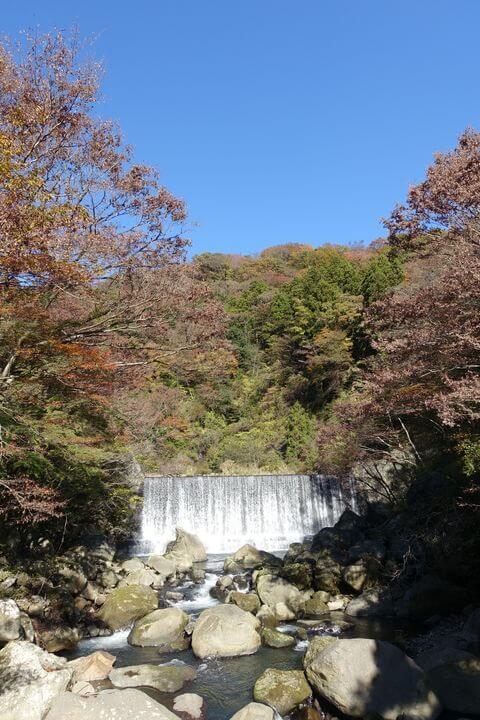 堂ヶ島渓谷遊歩道 桜橋 紅葉