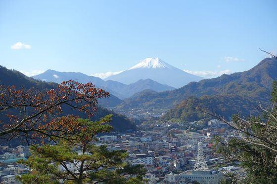 岩殿山 富士山