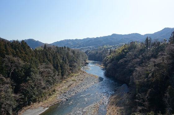 神代橋 青梅 景色