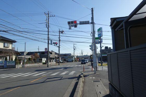 花山下東交差点