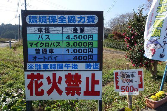 嵐山渓谷 駐車場 料金