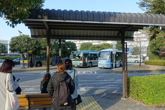 航空公園駅 ところバス 乗り場