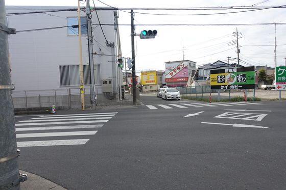 西川越駅入口交差点