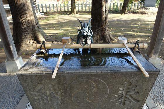 神明社 所沢市中富 手水舎