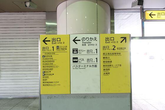 新羽駅 改札口