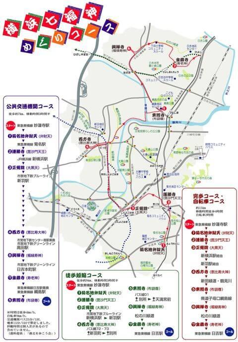 横浜七福神 マップ