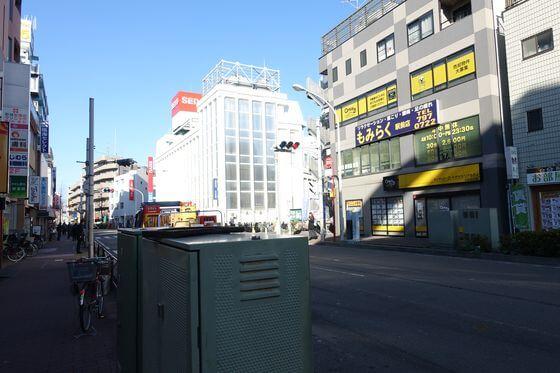 武蔵新城駅 南部沿線道路