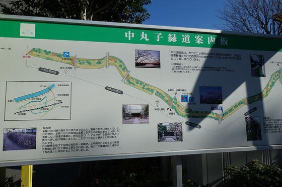 中丸子緑道 地図