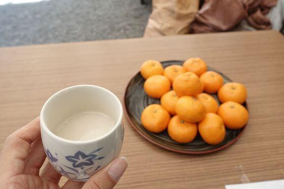 母智丘神社 正月 甘酒