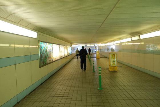 金沢文庫駅 地下通路