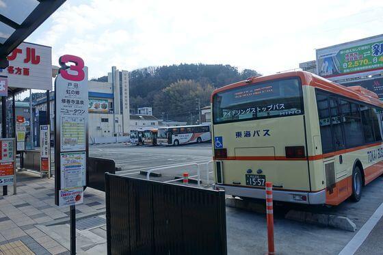 修善寺駅 バス 3番のりば