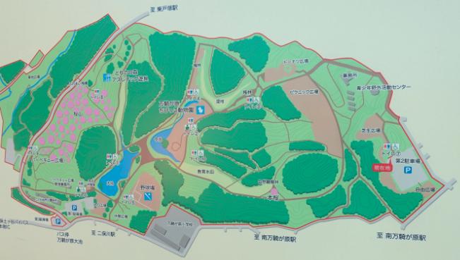 こども自然公園 園内マップ