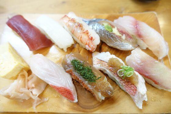 寿司竹 下田 金目物語と地魚寿司のハーフ&ハーフ