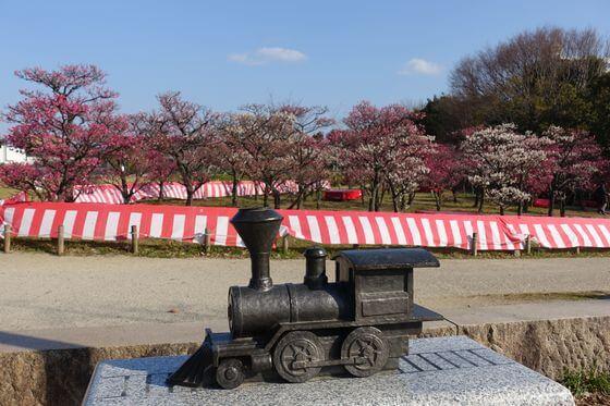 梅小路公園 蒸気機関車像