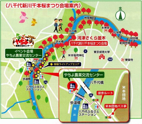 八千代新川千本桜 地図