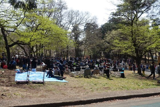 稲荷山公園 バーベキュー