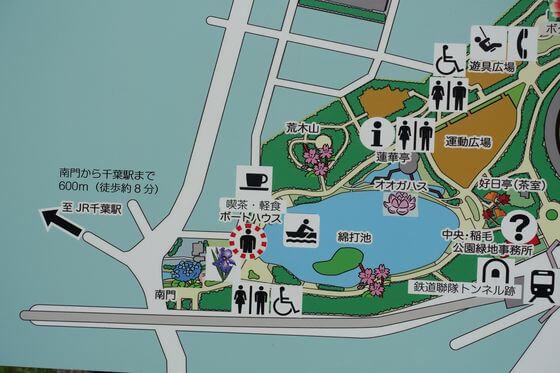 千葉公園 園内マップ