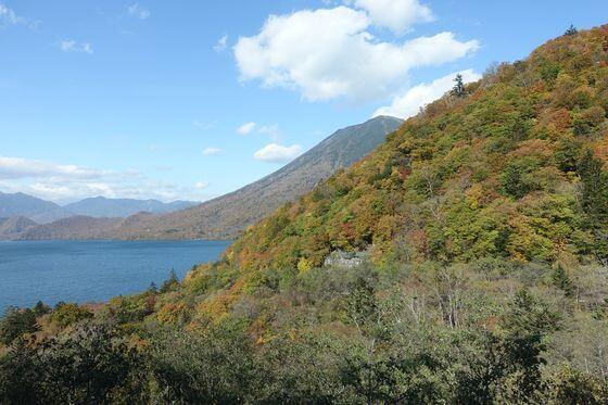 中禅寺湖展望台 紅葉 現在