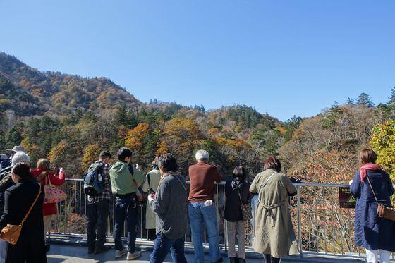 華厳の滝 紅葉 現在