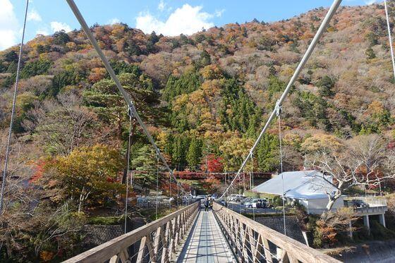 七ツ岩吊橋 紅葉