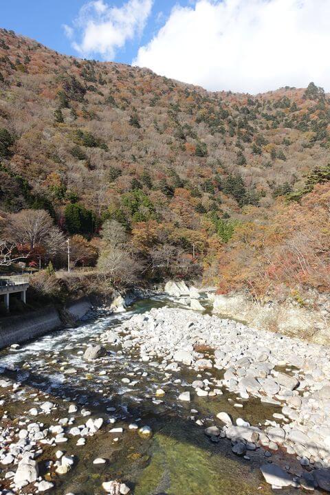塩原温泉 七つ岩吊橋 紅葉