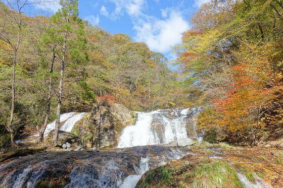 玉簾滝 日光 紅葉