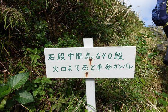 八丈富士 石段中間点