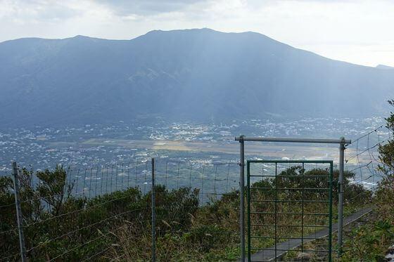 八丈富士 柵