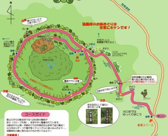 八丈富士 地図