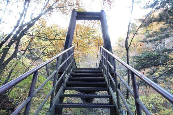 留春の吊橋
