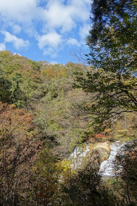 玉簾ノ滝休憩所 景色