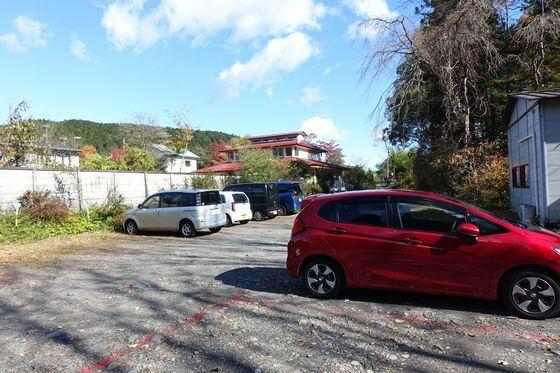 日光植物園 駐車場