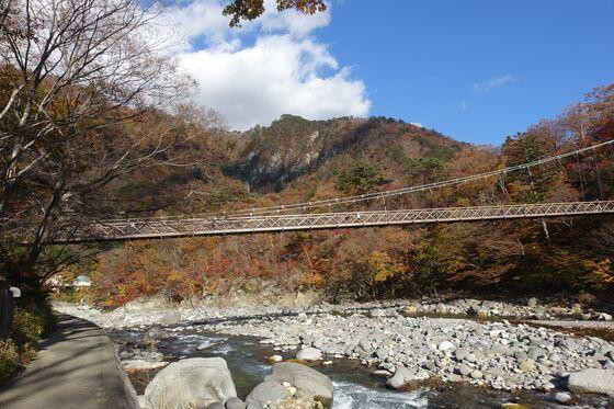 七ツ岩吊り橋 アクセス