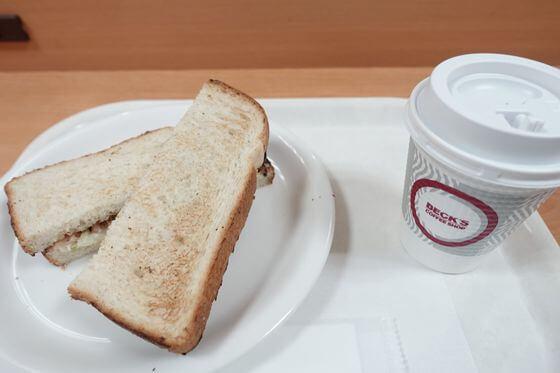 ベックスコーヒー 朝食