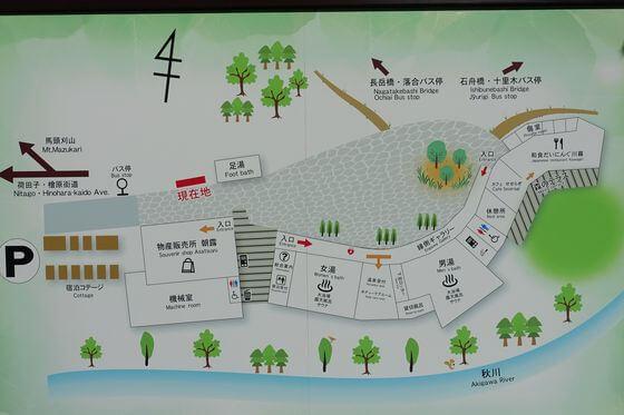 瀬音の湯 園内マップ