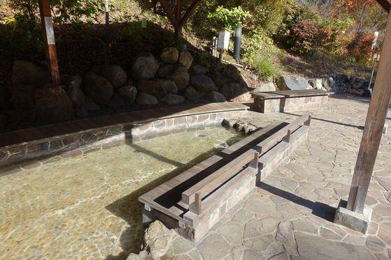 秋川渓谷 足湯