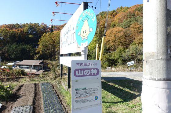 かりんちゃんバス 山の神 バス停