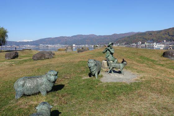 諏訪湖 石彫公園