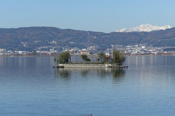 諏訪湖 初島