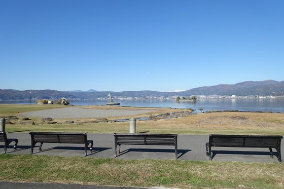 諏訪湖畔公園 アクセス