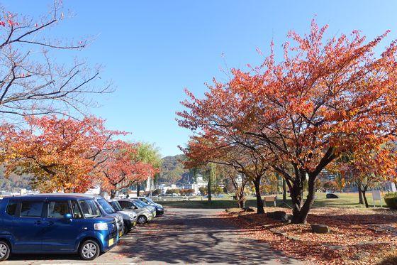 諏訪湖畔公園 駐車場