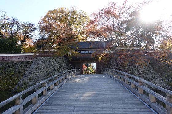 高島城 冠木橋