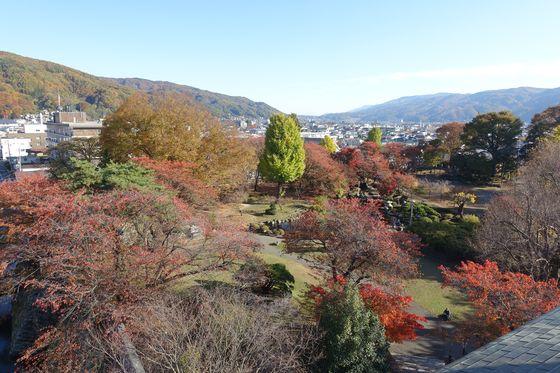 高島城 展望台 紅葉