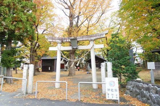 松本 伊和神社 紅葉