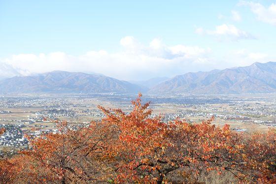 松本市アルプス公園 展望広場 紅葉