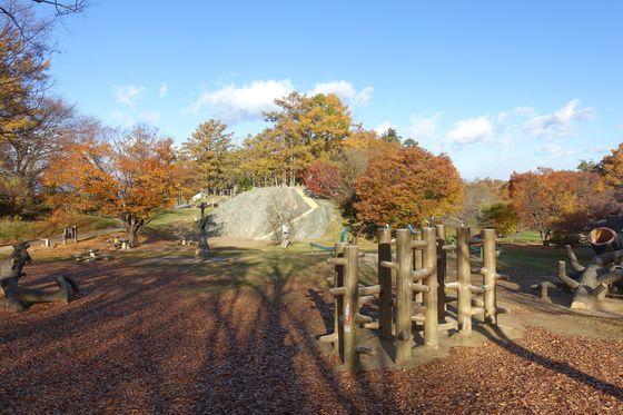 松本市アルプス公園 子供広場 紅葉