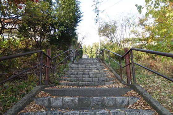 放光寺 松本市 石段