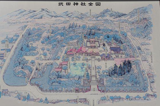 武田神社 境内図