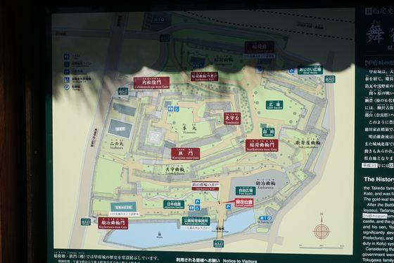 甲府城 園内マップ