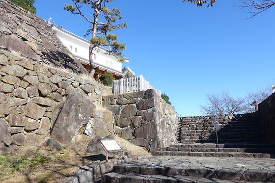 甲府城跡 中の門跡